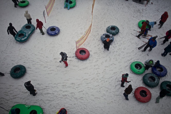 The tubing hill at Mt. Hood Skibowl East