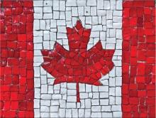 Mosaic Canadian Flag.