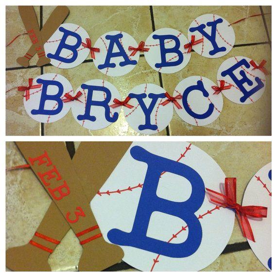 Baseball Baby shower Banner by myboysbigday on Etsy, $20.00