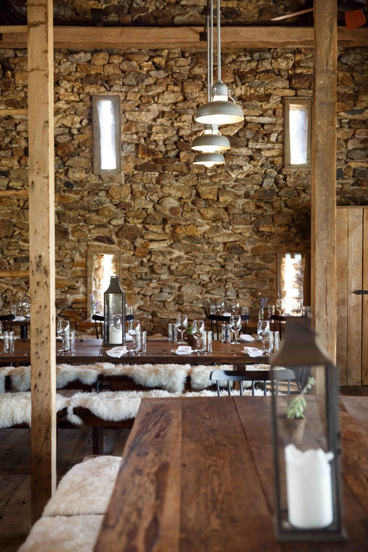 The indoor dining room at Wyebrook Farm dates back to the 1700s (by: Sue Long; photo by: Matthew Tennison. July 2015) #wyebrook #farmtotable #lancastercounty #pennsylvania