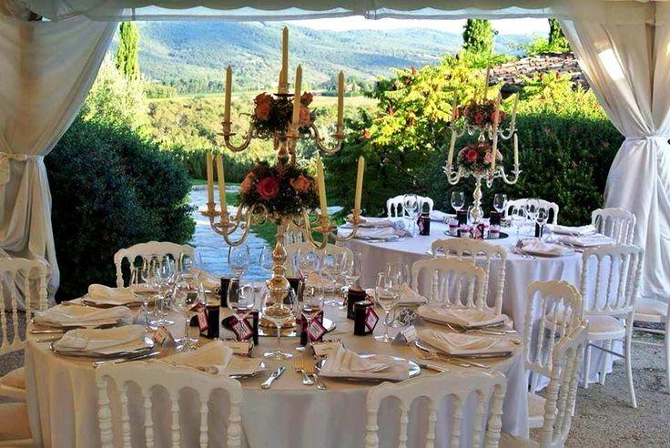 Table setting wedding in Tuscany - Tafeldecoratie, trouwen in Toscane, by www.conamore.it