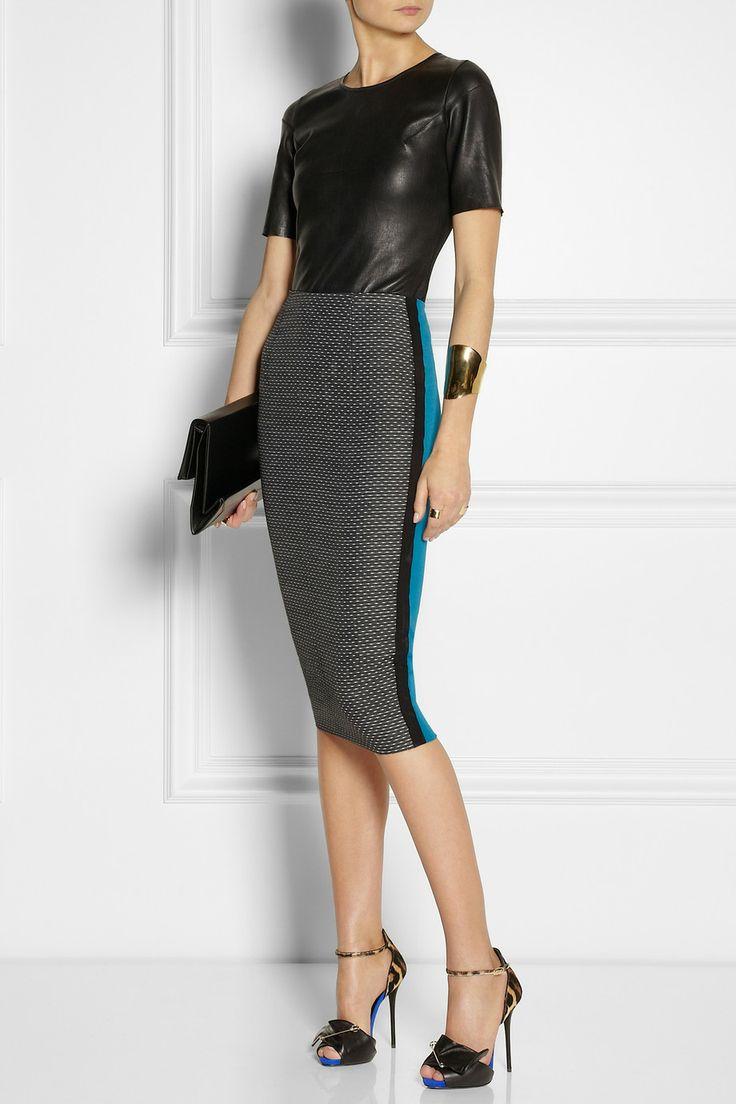 Gorg| Maison Martin Margiela bodysuit| Victoria Beckhampencil skirt| Stella McCartney Bag| GZ shoes