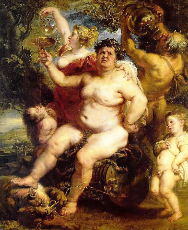 DIONISIO / BACO. Dios del vino y del delirio místico. Hijo de Zeus y de la mortal Sémele. RUBENS. 1640.