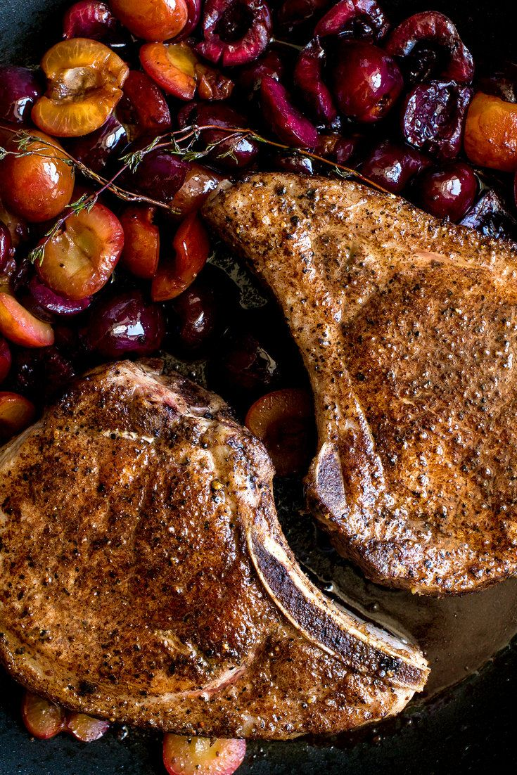Pork and fruit is a classic combination, and for good reason: The sweetness and tang of the fruit softens the gamy richness of the meat. (Photo: Andrew Scrivani for The New York Times)