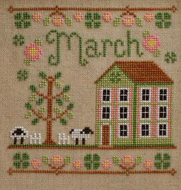Cottage Of The Month- March XS Pattern (CCNMAR) Embroidery Patterns by Country Cottage