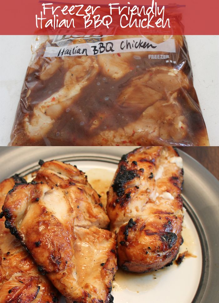 Italian BBQ Chicken with only 3 ingredients! Prep & freeze for a quick freezer meal!