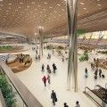 UN Studio's innovative design for Terminal 3 of Taiwan Taoyuan International Airport was awarded 2nd prize.