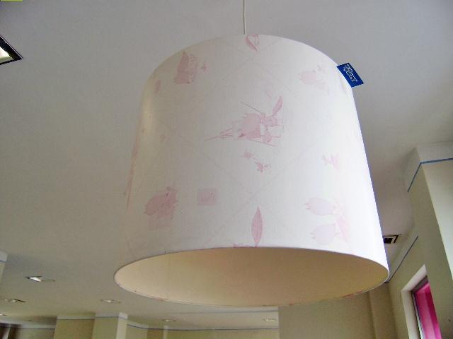 Lampara techo Lobitos rosa, diametro 50 cm