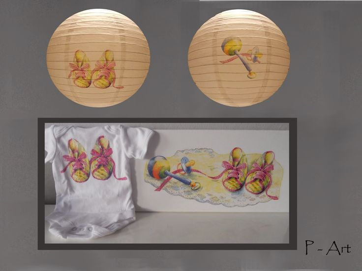 P - ART : LAMPSHADE, PAINTING, BODY - FOR BABIES