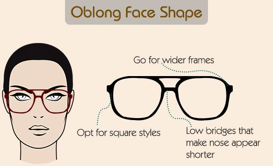 Eyeglass frames for oblong Shape