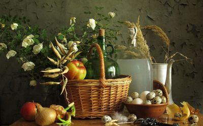 Goods in the basket wallpaper