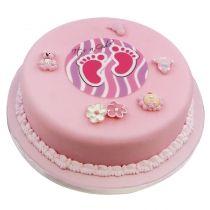 Baby Mädchen CK-405 https://www.cake-company.de/de/tortendeko/motivtorten/baby-maedchen-ck-405.html