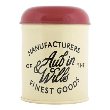 TYBY Tin: Inspired by the colors and text on vintage British biscuit tins