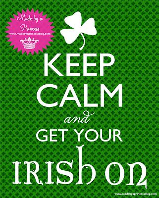 St Patricks Day FREE Printable Keep Calm  www.madebyaprincessblog.com