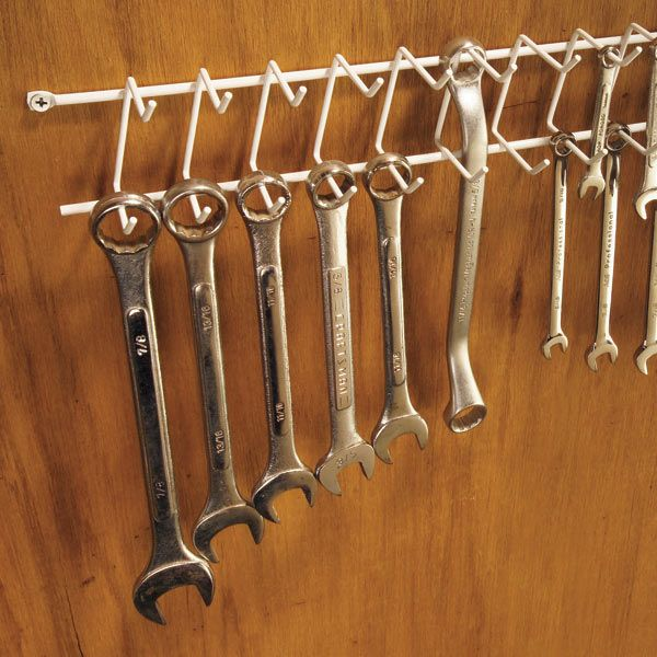 Use a tie/belt rack to keep wrenches organized & easily accessible.