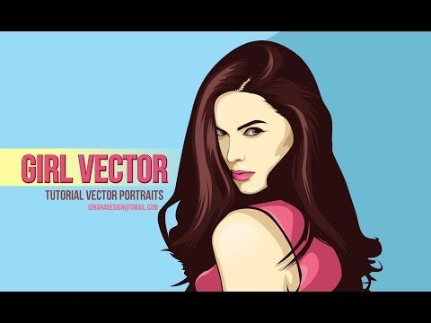 Tutorial Vector Portraits (4 PATH) using adobe illustrator - Girls Vector - YouTube
