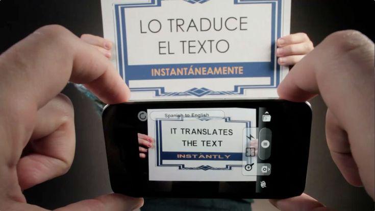 """해외여행!?! 외국어 때문에 걱정이라면, """"Word Lens"""" -- 모르는 외국어 간판, 메뉴 등을 카메라로 비추면 카메라에는 번역된 글이 보인다."""