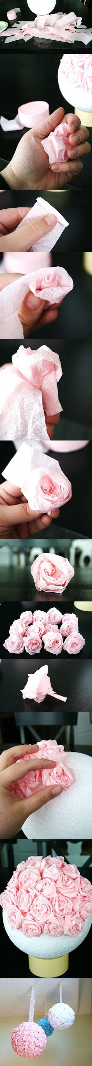 Este artículo nació por la pregunta de una mamáque está decorando el cumple para su hija de Minnie o Mimí y me preguntó cómo podría hacer el arreglo o centro de mesa para su cumpleaños con flores de papel, que había visto en ese post: Lo que vas a necesitar:...