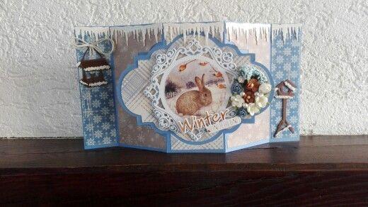 @dutchdoobadoo swing romance kaart met @mariannedesign mallen, plaatje, designpapier en wat roosjes