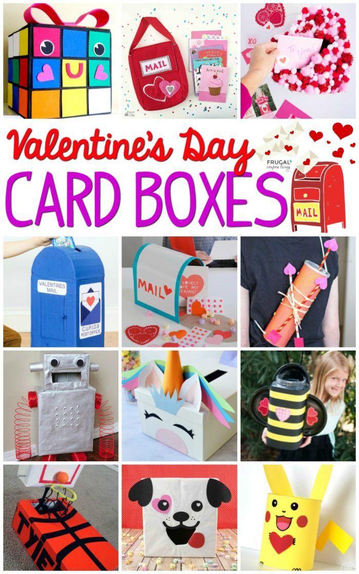 DIY Valentine Mailbox Ideas | Valentine Card Box | Classroom Valentine Party | Valentine's Day Crafts#FrugalCouponLiving #ValentinesDay #ValentineCrafts ...
