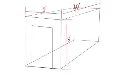 A 5x10 storage unit. http://www.westerlystorage.com
