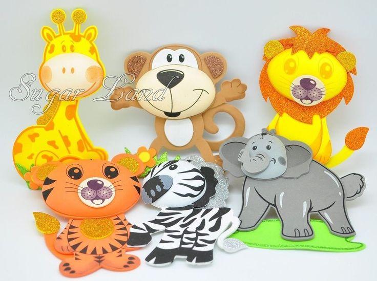 10 Pcs Baby Shower Safari Jungle Decoration Foam Party