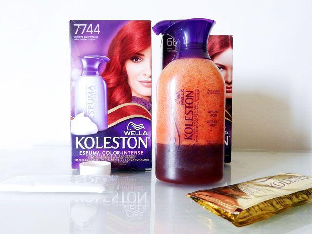 Cabelos vermelhos! O resultado da mistura das tinturas Koleston Espuma Color Intense Vermelho Intenso 7744 e Cereja 6646.
