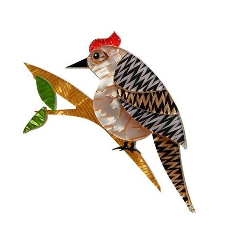 Erstwilder Tori Tree Drummer Bird Brooch