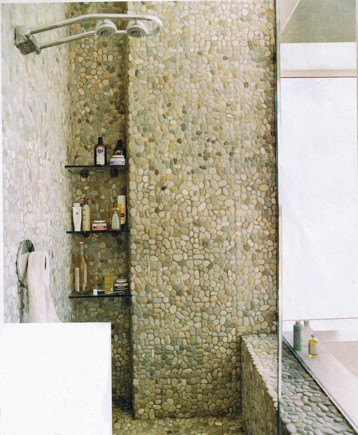 Shower Floor Tiles Which Why And How: 30 Best Images About Pebble Tile, Mosaic On Pinterest