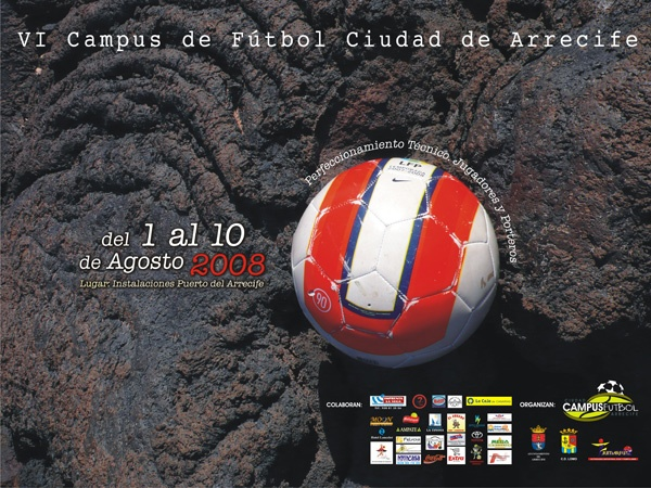 Cartel Campus de Fútbol Ciudad de Arrecife 2008