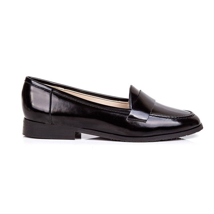 Kate Black Vegan Leather Loafers