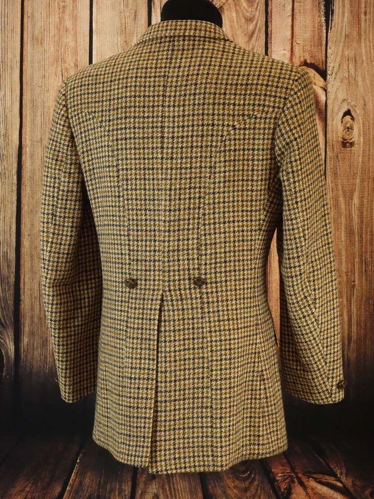 Harris Tweed Jacket TRUE VINTAGE Size UK 38L / Size int. S long arm (HTV108) | eBay