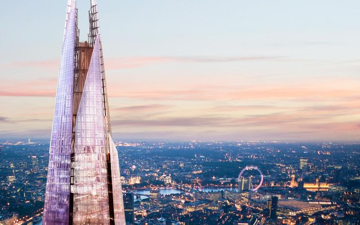 London's newest attraction is now open! The tallest building in Western Europe (1,016ft=310m) designed by Renzo Piano.