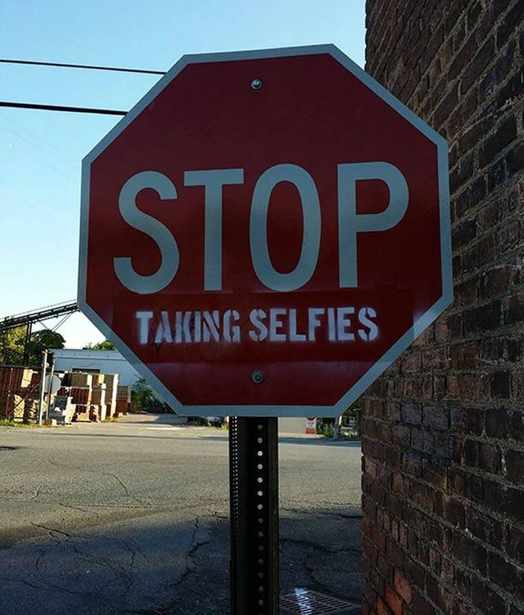 Stop taking #selfie!