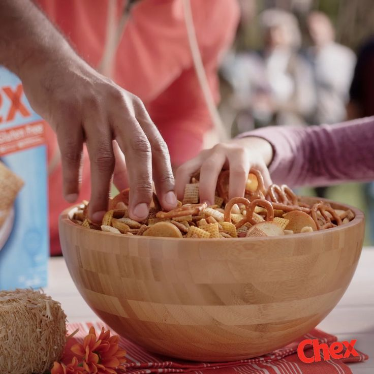 Keep things simple this season with our 15 minute recipe for Original Chex Party Mix! This classic recipe is a crowd pleaser for any occasion and is easy to make, giving you more time to start your Thanksgiving party around all of your guests.