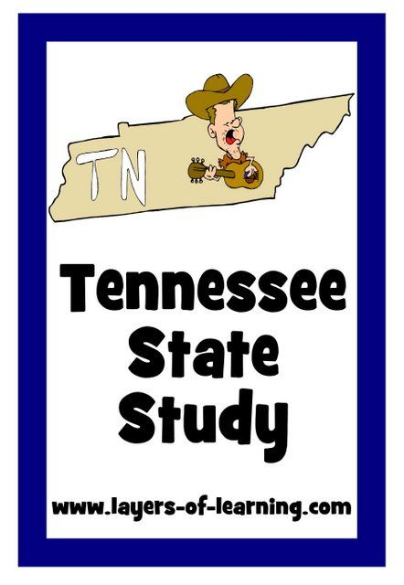 Tennessee State Study with fun facts about Tennessee.