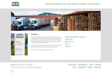 Webseite Europal