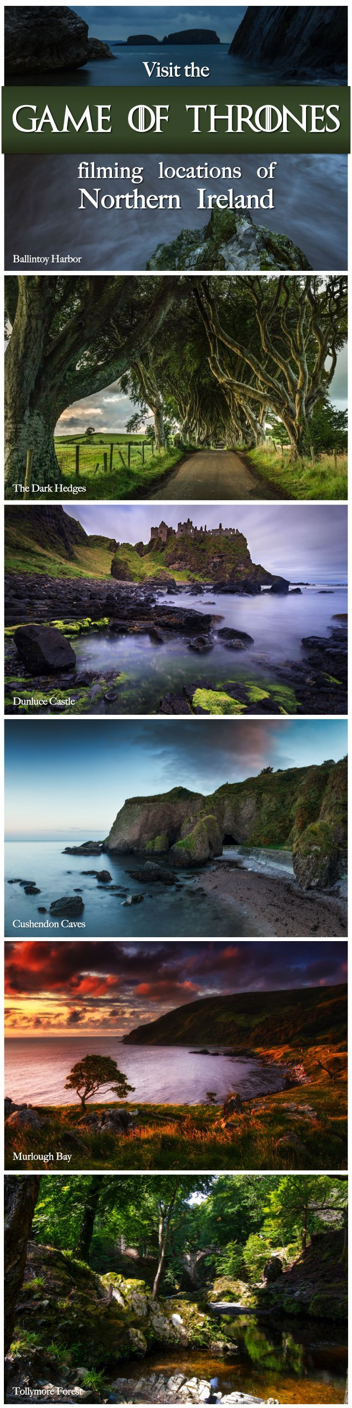 Planning on visiting the Emerald Isle? We know where you can stop to see the filming locations of HBO's hit series, Game of Thrones. Northern Ireland is home to a number of the show's filming sites - many of which are free to visit.