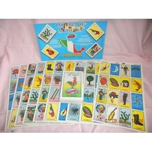 loteria cards, $2.99 http://www.amazon.com/Authentic-Mexican-Loteria-Card-Game/dp/B004WYATGU