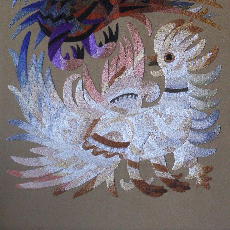 """Вышивка """"Добро и зло"""". Фрагмент Добро. Оригинал - 9900 грн. Копия, печать на холсте (очень стильно смотрится) -1300 грн.  🔹 Embroidery """"Good and evil"""". Fragment """"Good"""". Original - 390$. Copy, print on the canvas, size as you need (looksvery stylishly) - 50$.  🔸🔸🔸  Всем привет, здравствуйте! Благодарю за интерес к моим работам и за теплые комментарии) Давайте знакомится. Меня зовут Нина Коваль, я автор работ. Все работы в единичном экземпляре. Повтор могу сделать в течении 3-6 месяцев…"""
