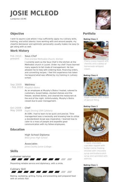 resume of chef