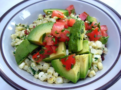 Sauteed Corn with Cilantro and Avocado | food yumminess | Pinterest