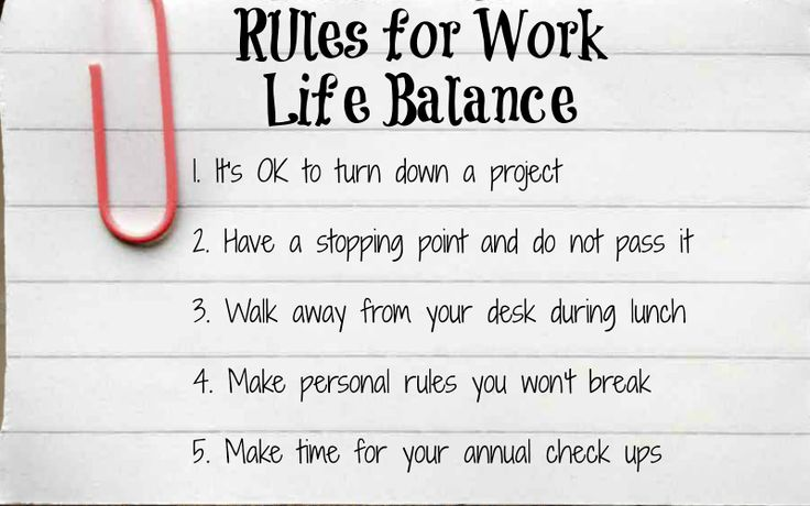 Tips for maintaining work life balance