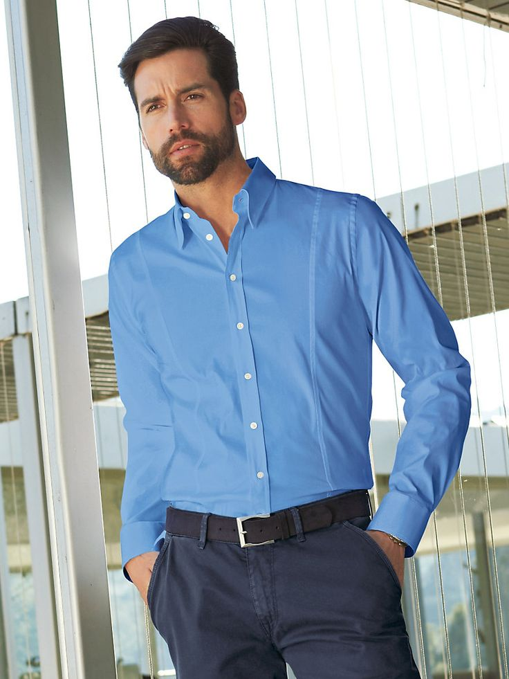Strenesse Men - Modisches Hemd - Hellblau