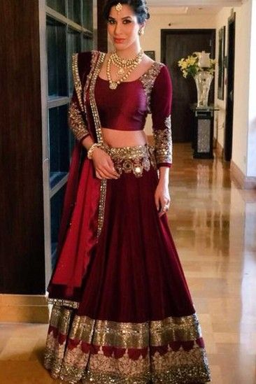 a397582b17 Maroon Micro velvet Lehenga Choli - DMV9097   Saree & dress   Indian ...