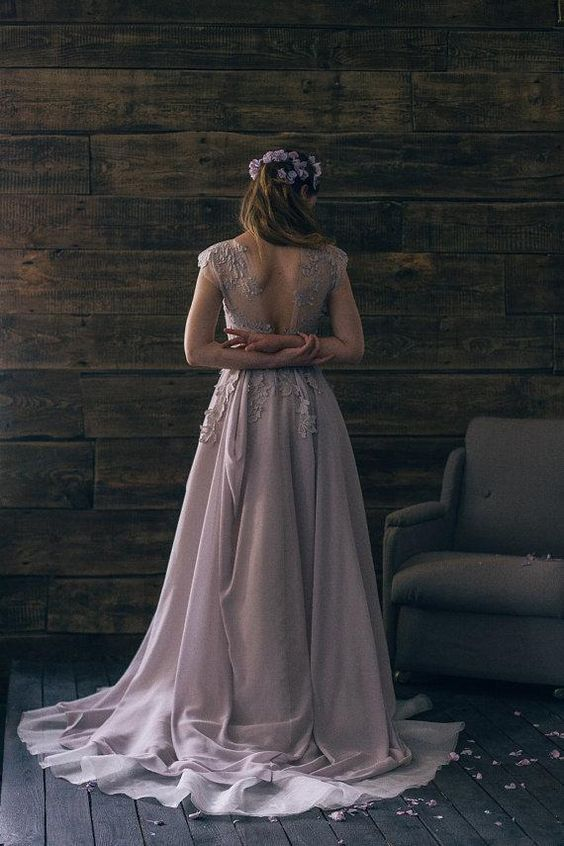 Beautiful Lavender Wedding Dress