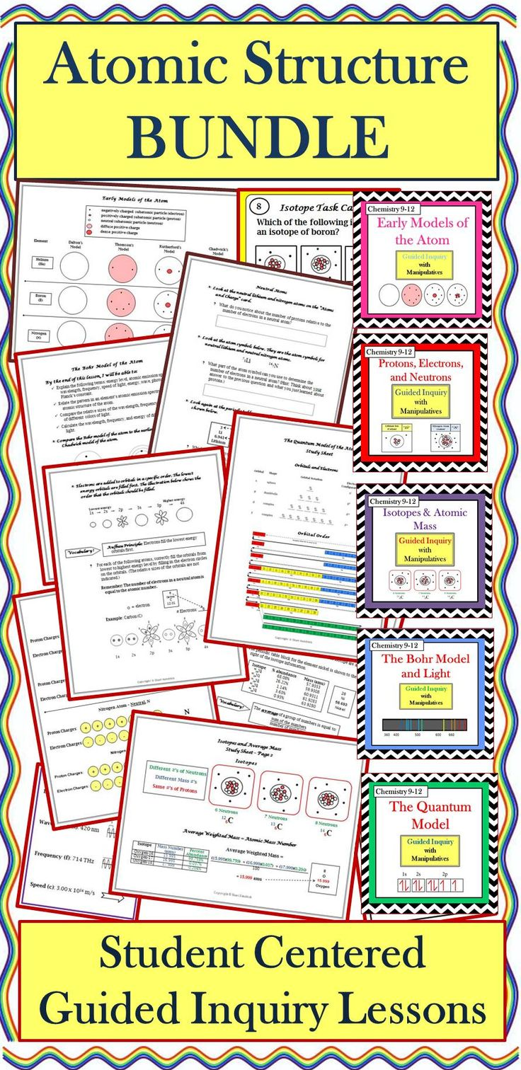 Best 25 bohr model ideas on pinterest atomic theory chemistry chemistry atomic structure guided inquiry lessons bundle robcynllc Image collections
