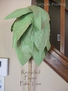 DIY: Recycled Paper Palm Tree