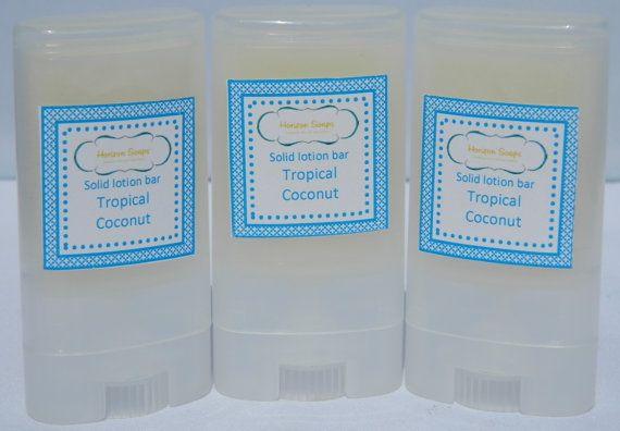 Massage bar / Solid lotion bar Tropical Coconut in door HorizonSoaps