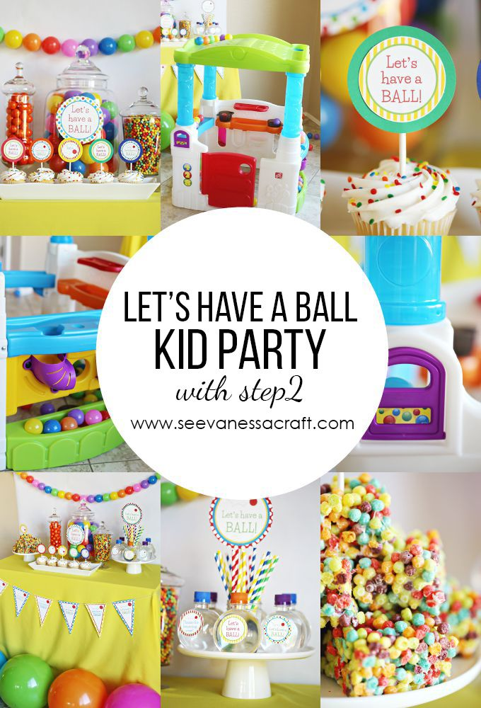 Let's Have a Ball Kid Party | When the new Wonder Ball Fun House arrived on my doorstep, I knew I just had to plan a ball themed party to go with it. This would make for such a fun first birthday party, what toddler doesn't love balls!